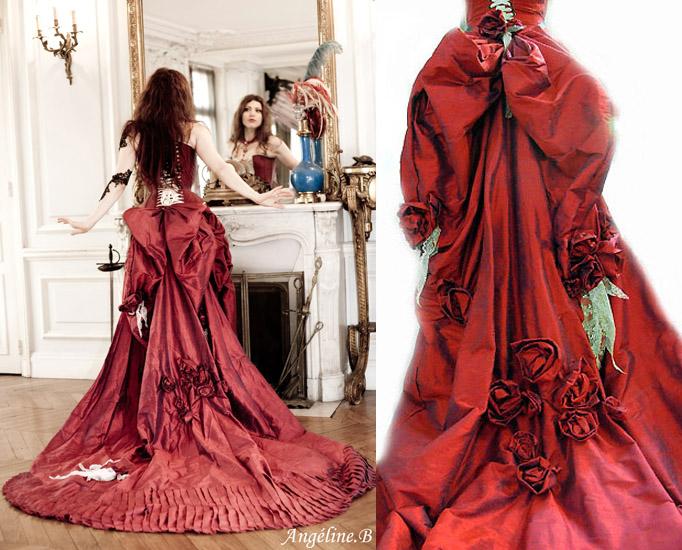 patron couture robe baroque