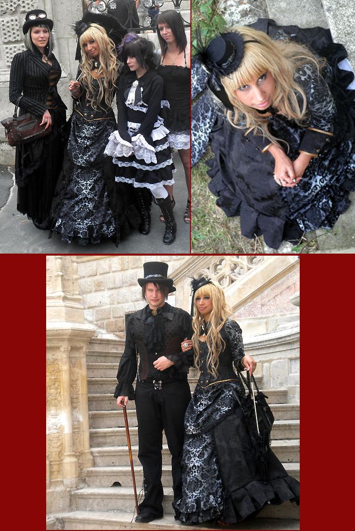 robe de mariee originale baroque noire steampunk victorienne corset Volute Orléans Loiret